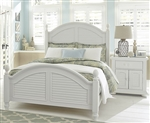 Summer House Poster Bed in Oyster White Finish by Liberty Furniture - 607-BR-QPS