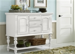 Summer House Server in Oyster White Finish by Liberty Furniture - 607-SR5239