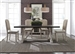 Willowrun Trestle Table 5 Piece Dining Set in Rustic White and Weathered Gray Top Finish by Liberty Furniture - LIB-619-DR-5TRS