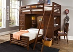 Chelsea Square Twin / Twin Loft Bed in Burnished Tobacco Finish by Liberty Furniture - 628-BR07