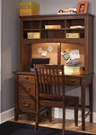 Chelsea Square Student Desk & Hutch in Burnished Tobacco Finish by Liberty Furniture - 628-BR70BH