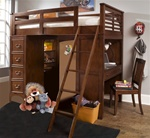 Chelsea Square Twin Loft Bed in Burnished Tobacco Finish by Liberty Furniture - 628-BRLOFT