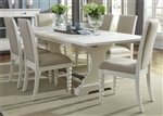 Harbor View Trestle Table 5 Piece Dining Set in Linen White Finish by Liberty Furniture - 631-DR-O5TRS