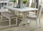 Harbor View Trestle Table 6 Piece Dining Set in Linen Finish by Liberty Furniture - 631-DR-O6TRS