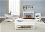Harbor View Cocktail Table in White Linen Finish by Liberty Furniture - 631-OT1010