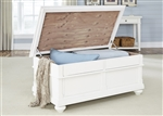 Harbor View Storage Trunk Cocktail Table in White Linen Finish by Liberty Furniture - 631-OT1011