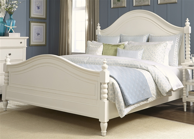 Harbor View Poster Bed 6 Piece Bedroom Set In White Linen