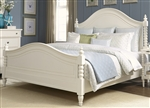 Harbor View Poster Bed in White Linen Finish by Liberty Furniture - 631-P-BED