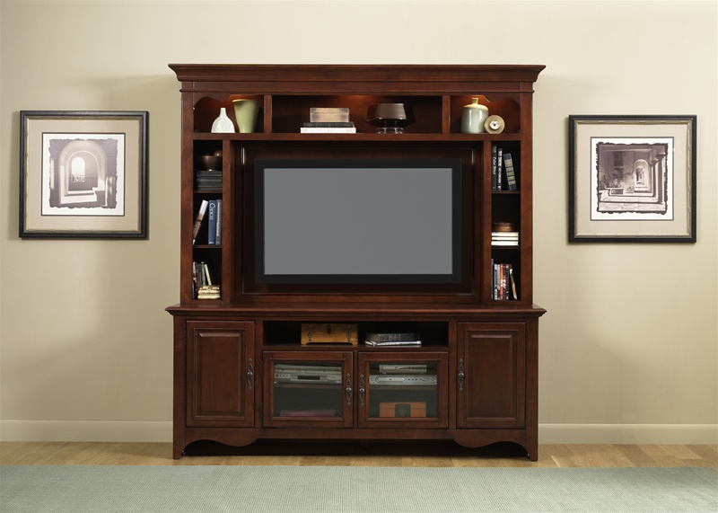 new generation 50 inch tv entertainment center in traditional cherry finish by liberty furniture. Black Bedroom Furniture Sets. Home Design Ideas