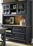 Bungalow II Jr Executive Credenza & Hutch in Driftwood & Black Finish by Liberty Furniture - 641-HO120