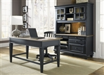 Bungalow II Jr Executive 3 Piece Home Office Set in Driftwood & Black Finish by Liberty Furniture - 641-HOJ