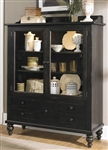 Whitney Display Cabinet in Black Cherry Finish by Liberty Furniture - LIB-661-CH5468