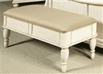 Rustic Traditions II Lift Top Bench in Rustic White Finish by Liberty Furniture - 689-BR47