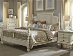 High Country Poster Bed in White Finish by Liberty Furniture - 697-BR-QPS