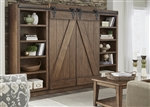 Lancaster Entertainment Center in Antique Brown Finish by Liberty Furniture - 712-ENTW-ECP