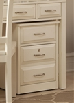 Hampton Bay Mobile File Cabinet in White Finish by Liberty Furniture - 715-HO146