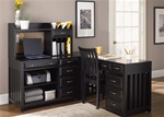 Hampton Bay 5 Pc Home Office Set in Black Finish by Liberty Furniture - 717-HO