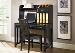 Hampton Bay Writing Desk & Hutch in Black Finish by Liberty Furniture - 717-HO111