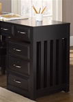 Hampton Bay Mobile File Cabinet in Black Finish by Liberty Furniture - 717-HO146