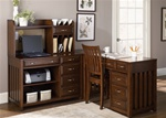Hampton Bay 5 Pc Home Office Set in Cherry Finish by Liberty Furniture - 718-HO