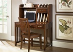 Hampton Bay Writing Desk & Hutch in Cherry Finish by Liberty Furniture - 718-HO111