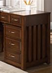 Hampton Bay Mobile File Cabinet in Cherry Finish by Liberty Furniture - 718-HO146