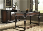 Kingston Plantation 2 Piece Home Office Set in Hand Rubbed Cognac Finish by Liberty Furniture - LIB-720-HO