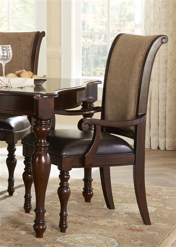 Kingston Plantation Oval Pedestal Table 5 Piece Dining Set In Hand Rubbed  Cognac Finish By Liberty Furniture   720 T5472
