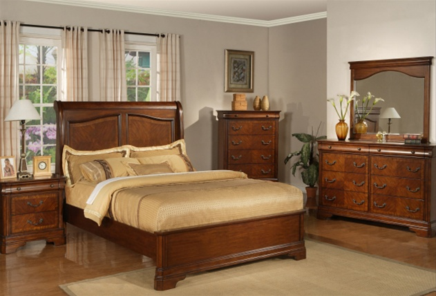 alexandria 6 piece bedroom set in autumn brown finish by liberty furniture 722 br. Black Bedroom Furniture Sets. Home Design Ideas