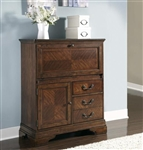 Alexandria Computer Cabinet in Autumn Brown Finish by Liberty Furniture - 722-CC
