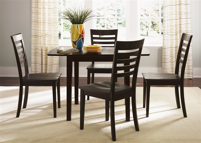 cafe collections drop leaf table 3 piece dining set in merlot finish by liberty furniture 73t3048