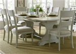 Harbor View Trestle Table 5 Piece Dining Set in Dove Gray Finish by Liberty Furniture - 731-DR-5TRS