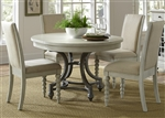 Harbor View Round Table 5 Piece Dining Set in Dove Gray Finish by Liberty Furniture - 731-DR-O5ROS