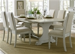 Harbor View Trestle Table 5 Piece Dining Set in Dove Gray Finish by Liberty Furniture - 731-DR-O5TRS