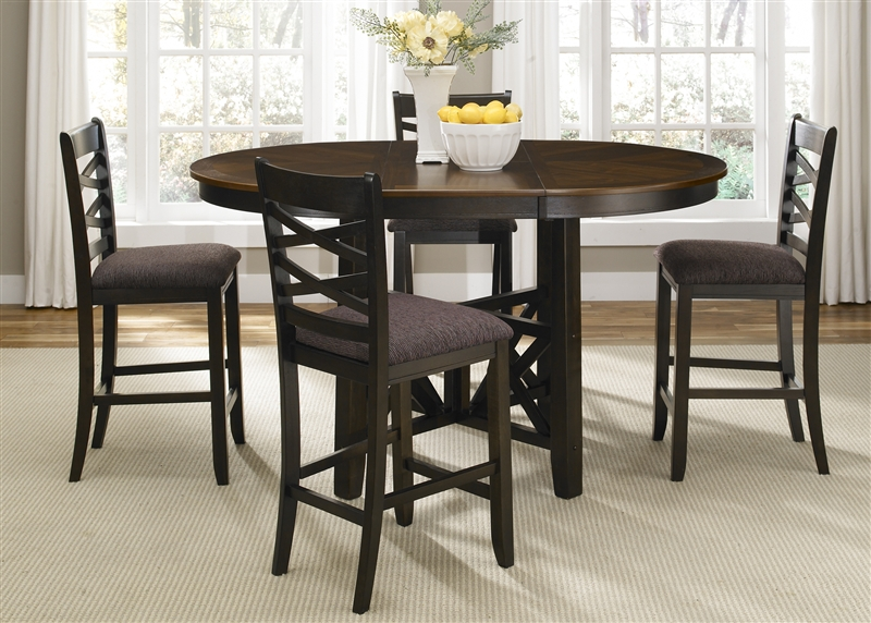 Bistro Ii Oval Gathering Counter Height Table 5 Piece