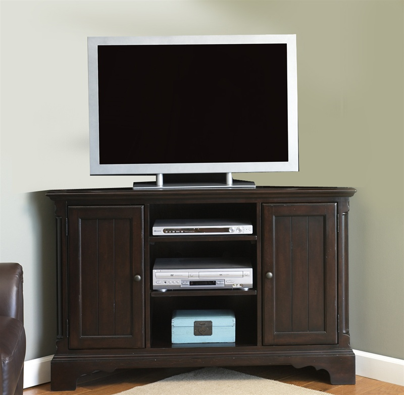 carriage house corner tv stand 52 inch tv in mahogany. Black Bedroom Furniture Sets. Home Design Ideas