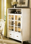 Low Country Curio Cabinet in Linen Sand with Suntan Bronze Finish by Liberty Furniture - 79-CH4460