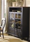 Low Country Curio Cabinet in Anchor Black with Suntan Bronze Finish by Liberty Furniture - 80-CH4460