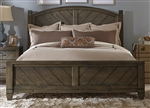 Modern Country Poster Bed in Smokey Pewter Finish by Liberty Furniture - 833-BR-QPS