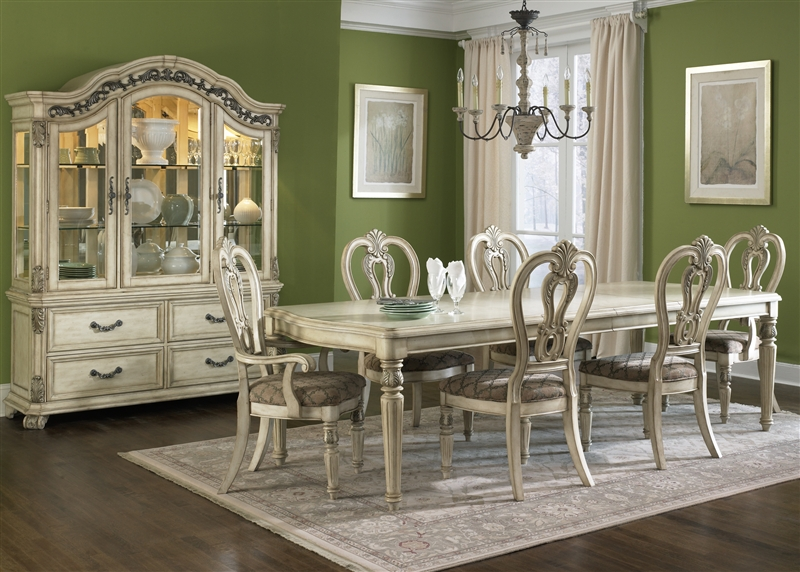 Messina Estates II 7 Piece Dining Set In Antique Ivory Finish By Liberty Furniture