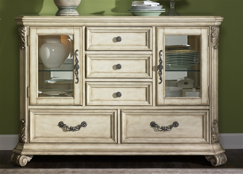 Messina Estates II Server In Antique Ivory Finish By Liberty Furniture    837 SR5438