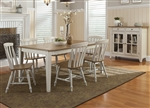Al Fresco Rectangular Leg Table 5 Piece Dining Set in Driftwood & Sand Finish by Liberty Furniture - 841-T4074
