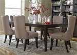 Platinum 7 Piece Dining Set in Satin Espresso Finish by Liberty Furniture - 861-DR-7RLS