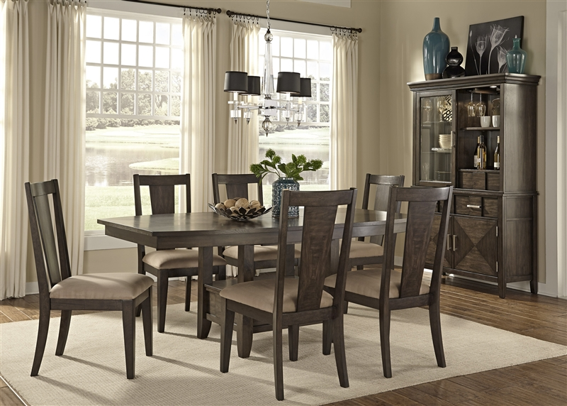 Patterson Storage Pedestal Table 5 Piece Dining Set In Espresso Finish By  Liberty Furniture   885 T4278