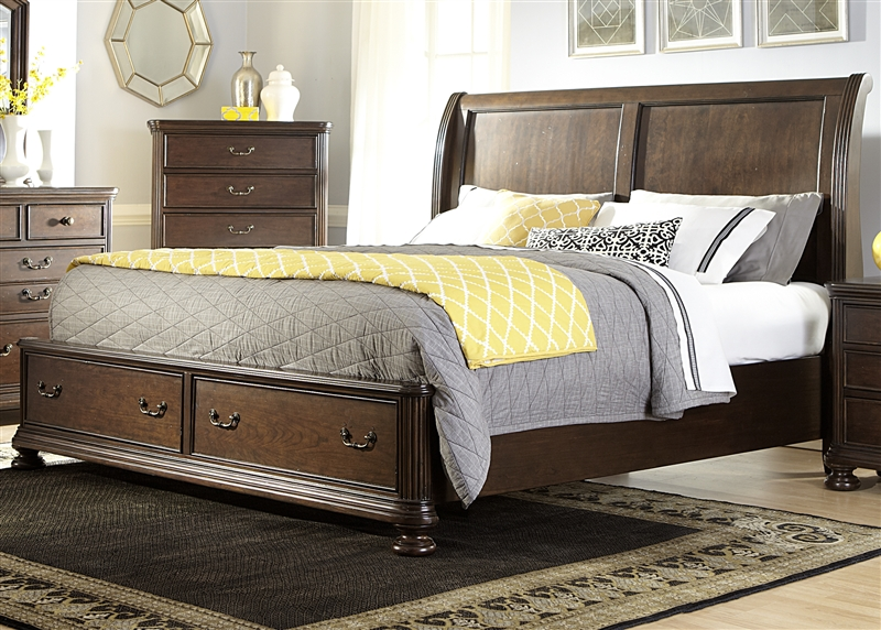Covington place storage bed in cognac finish by liberty for Furniture 888