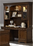 Chateau Valley Credenza and Hutch in Brown Cherry Finish by Liberty Furniture - 901-HOJ-JEC
