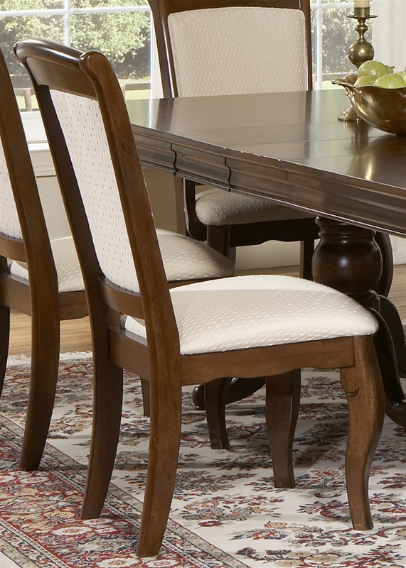 Bedroom Packages: Louis Philippe Double Pedestal Table 7 Piece Dining Set In