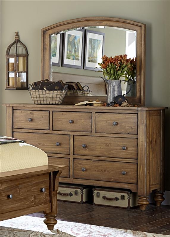 Southern Pines Storage Bed 6 Piece Bedroom Set In Vintage