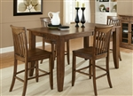 Arbor Hills 5 Piece Counter Height Gathering Table Set in Sandstone Finish by Liberty Furniture - LIB-92-GT4080