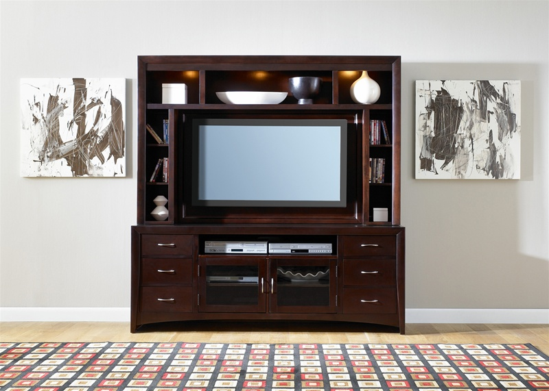 Lovely 50 Inch Entertainment Center Part - 3: New Generation 50-Inch TV Entertainment Center In Merlot Finish By Liberty  Furniture - 940-ENT